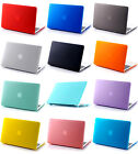 Rubberized Matt Hard Case Cover (No Cut-out) for MacBook Air White Pro 11 13 15