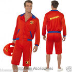 CL177 Baywatch Beach Men's Lifeguard Short Jacket Licensed Costume Outfit