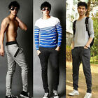 Mens Slim Fit Training Jogging Harem Pants Skinny Trousers Sportwear Sweatpants