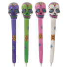 Day Of The Dead Sugar Skull Floral Skeleton Shaped Ballpoint Pen Gothic Gift