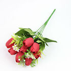 10Pcs Tulip Artificial Flower Bride Bouquet Flower For Wedding Party Home Decor