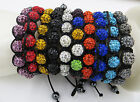 1pc New chic women's Colorful bead Hand Rope Shiny Bangle Bracelet SL161