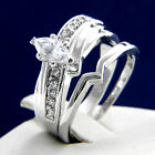 New 0.80 CT Clear Solitaire CZ Women's Engagement Brass Wedding Bridal Ring Band