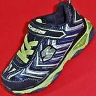 NEW Boy's Toddler SKECHERS GALVANIZED 90453 Black LIGHTS Athletic Sneakers Shoes