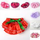 6-24M Baby Girls Christmas Gift Bloomers Diaper Cover Lace Petti Ruffle Panties