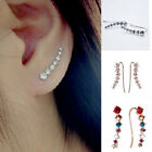 Elegant womens 18K White Gold Plated Swarovski Element Crystal Ear Hook Earrings