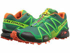 SALOMON Mens SPEEDCROSS 3 Bottle Green/Green/OrangeTrail Running Shoes L36673700