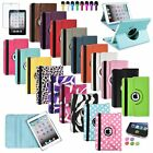 For Apple iPad Mini 1/2/3 Retina 360 Rotating Leather Case Cover w Swivel Stand