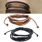 Mens/Womens Fashion Surfer Tribal Wrap Braided Leather Wristband Cuff Bracelet
