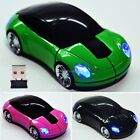 Mouse Mice 3D Car Shaped 2.4G 1800CPI USB Wireless Optical For Laptop B20E NEW