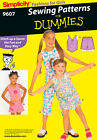 Sew & Make Simplicity 9607 SEWING PATTERN- Girls Summer TOPS SHORTS SKORTS PANTS