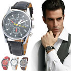 New Luxury Fashion Crocodile Faux Leather Men's Analog Watch Watches Trendy