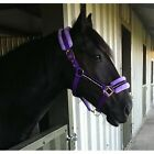 FLUFFY FLEECE FAUX FUR DIAMANTE ADJUSTABLE HEADCOLLAR - SMALL PONY PONY COB FULL