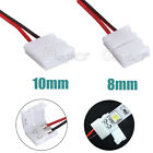 NEW 2-Pins Power Connector Adaptor For Led Strip Wire 3528/5050 With PCB Ribbon