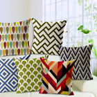 Hot Simple Geometry Cotton Linen Pillow Case Sofa Throw Cushion Cover Home Decor