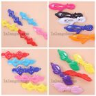 20/100pcs Nice Mixed Colorful Charms Bowknot Plastic Hair Clips Ornaments LC