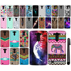 For LG G Vista VS880 G Pro 2 Lite Design TPU SILICONE Soft Skin Case Cover + Pen