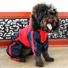 Pet Dog Puppy PU Leather Apparel Waterproof Hooded Raincoat Poncho Clothes