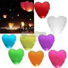 100pcs Love Heart-shaped Chinese Fire Paper Sky Lanterns for Wedding Wishing New