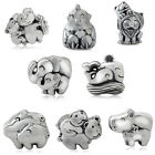 925 Sterling Silver MOTHER & BABY Animal European Charm Bead