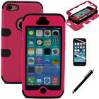 Hybrid Rugged Rubber Armor Impact Defender Skin Hard Cover Case For iPhone 5C