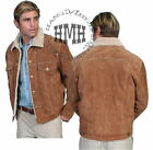 L113ds Scully Suede Leather Coat Jacket Brown Shearling