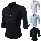 New Men Shirts Lepal Collar Slim Tops Soft Concise Durable Simple Design Cool