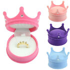 New Crown Velvet Ring Display Box Ear Stud Necklace Jewelry Case Container Gift