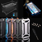 Hybrid Waterproof Shockproof Tempered Glass Metal Case Cover For iPhone 5 6 Plus