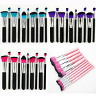 New 10pc Makeup Kabuki Brushes Set Cosmetic Foundation Blending Blush Brush Kit