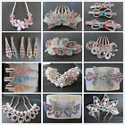 New 1PC Rose Gold Crystal Rhinestone Pearl Hairpins Combs Clips Hair Accessories