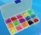 15/10 Slots Plastic Adjustable Jewelry Storage Box Case Craft Organizer Beads