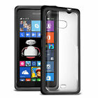 FUSION BUMPER GEL CASE FOR MICROSOFT LUMIA 535 WITH CLEAR BACK REAR COVER