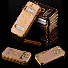 Luxury View Window Flip Cover Hard Faux Leather Case For Apple iPhone 5 5S