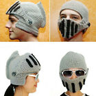 Warm Winter Beanie Roman Knight Helmet Funny Party Mask Knitting Ski Cap Hat New