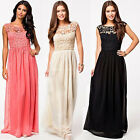 Sexy Womens Chiffon Lace Boho Long Maxi Evening Formal Party Summer Beach Dress