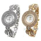 Women Bracelet Wrist Watch Rhinestone Crystal Bling Stainless Steel Luxury