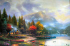 """Thomas Kinkade End of a Perfect Day III 12"""" x 18"""" Classic Edition Canvas"""