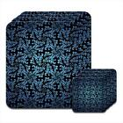 Elegance Blue Black Coaster & Placemat Set
