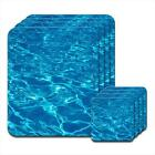 Sparkling Gorgeous Marine Azure Blue Water Wooden Coaster & Placemat Set