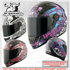 Speed & Strength SS1300 Wicked Garden WOMEN Motorcycle Street Helmet