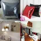 43x43cm Solid Color Glitter Sequins Throw Pillow Case Home Decor Cushion Covers