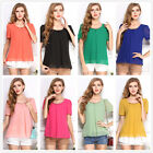 Womens Summer Casual Chiffon Candy Color Vest Tops Tank Long Sleeve Shirt Blouse