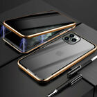 Magnetic Case For iPhone 11 XS 7 8 Adsorption Double Sided Tempered Glass Cover