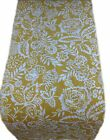 TABLE RUNNERS - POLLY col.MARMALADE yellow mustard floral lined- extra long