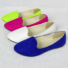 Ladies Womens Faux Suede Leather Bridal Ballet Ballerina Flat Dolly Shoes Pumps