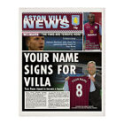 Aston Villa FC Football Club Official Personalised Newspaper Front Page