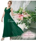 BNWT EMILY Emerald Green Chiffon Maxi Prom Evening Bridesmaid Dress UK 6 - 18