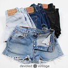 Vintage LEVI 501 Denim Shorts High Waisted Hotpants 6 8 10 12 14 16 18 - Grade B