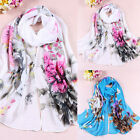 New Fashion Flower Peony Chiffon Neck Soft Scarf Wrap Shawl Stole Wrap GFY